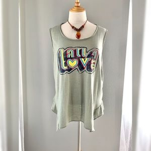 All 4 Love tank top by Jessica Simpson